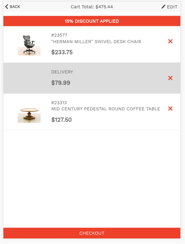 Loveseat Point Of Sale App